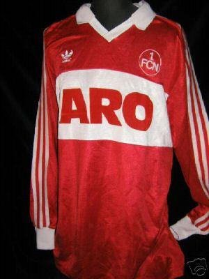 Aro Nürnberg ebay trikot des tages 1 fc nürnberg 1983 84 matchworn captain trikot