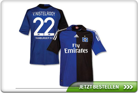 hsv trikot mit van nistelrooy beflockung nr 22 captain. Black Bedroom Furniture Sets. Home Design Ideas