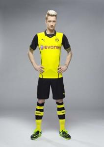 Marco Reus präsentiert das neue BVB-Champions League-Trikot